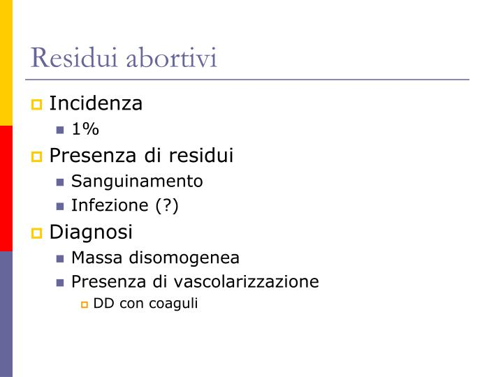 Residui abortivi