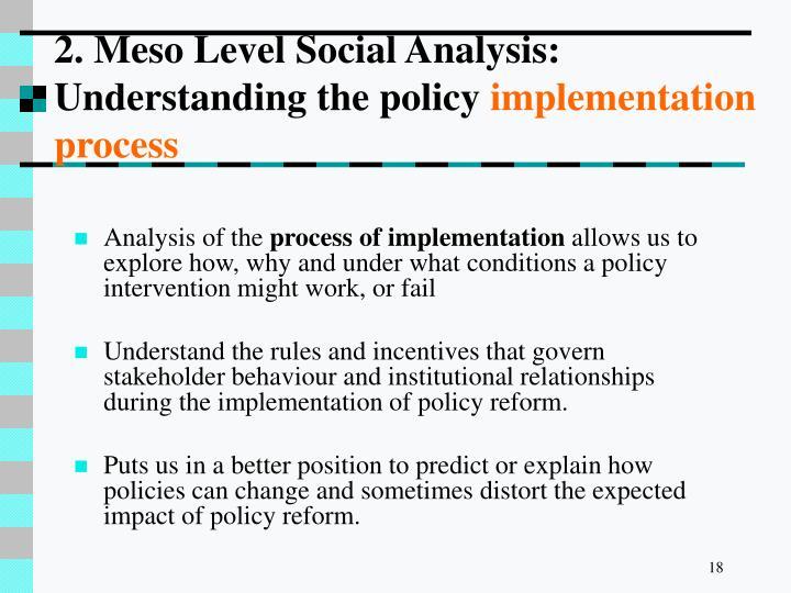 2. Meso Level Social Analysis:
