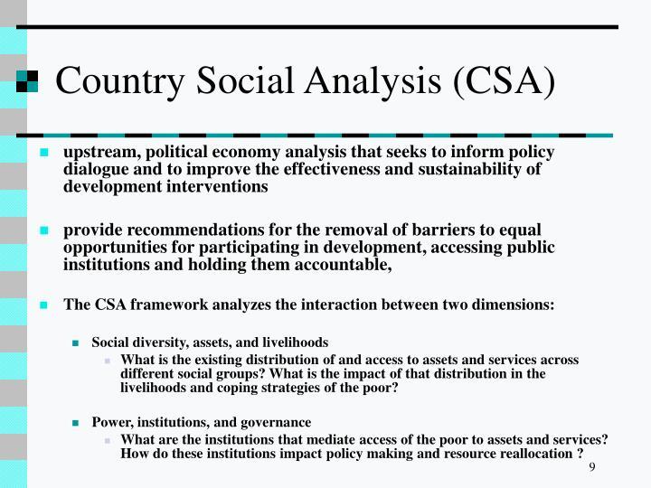 Country Social Analysis (CSA)