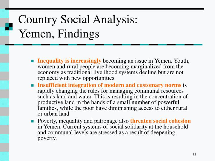 Country Social Analysis: