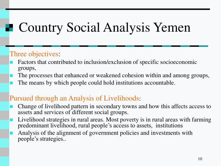 Country Social Analysis Yemen
