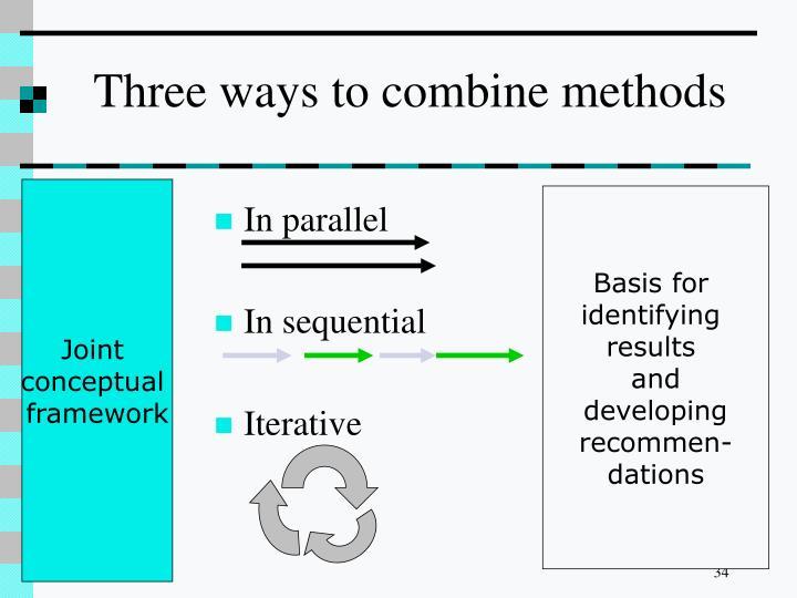 Three ways to combine methods
