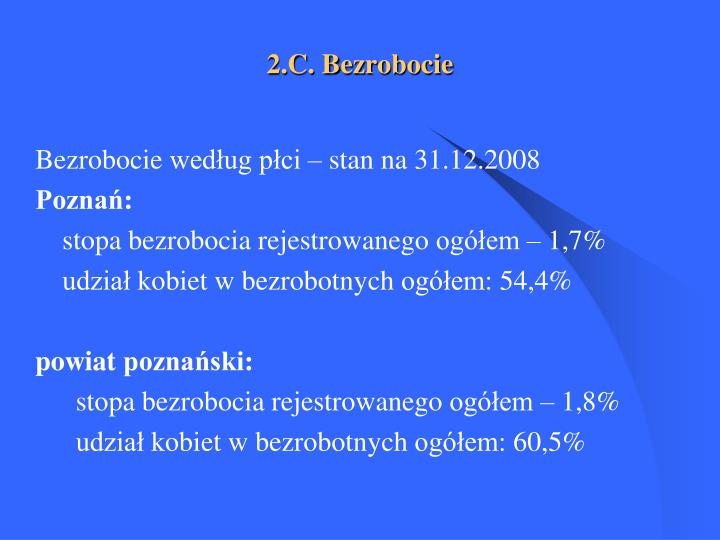 2.C. Bezrobocie