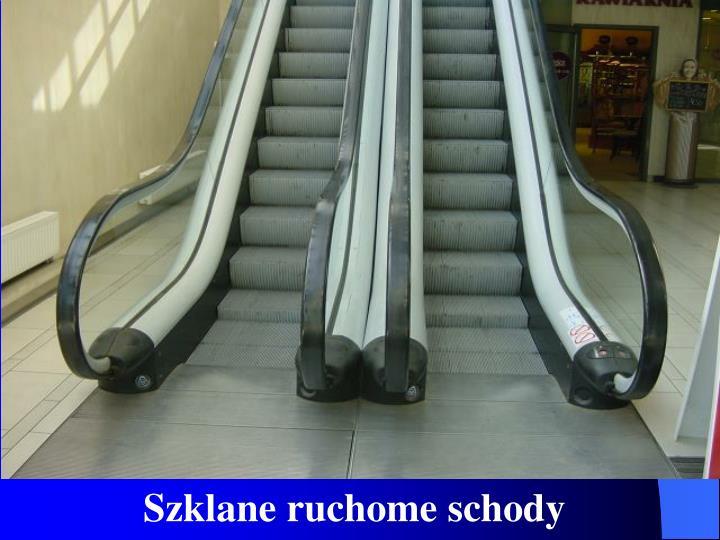 Szklane ruchome schody