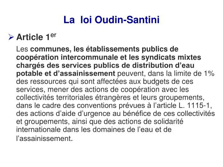 La  loi Oudin-Santini