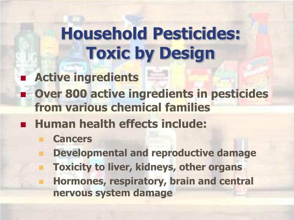 Household Pesticides: