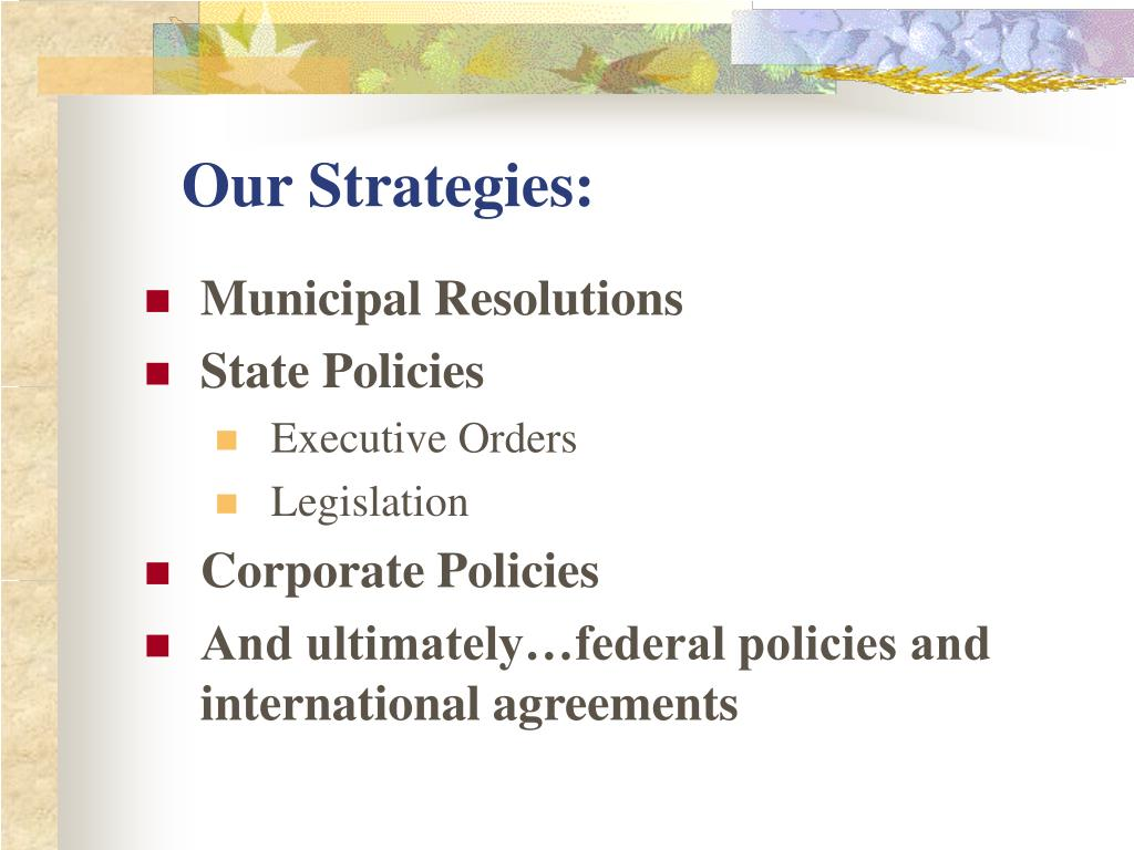 Our Strategies: