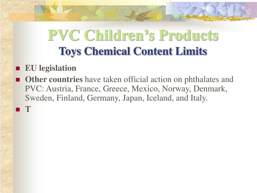 PVC Children's Products