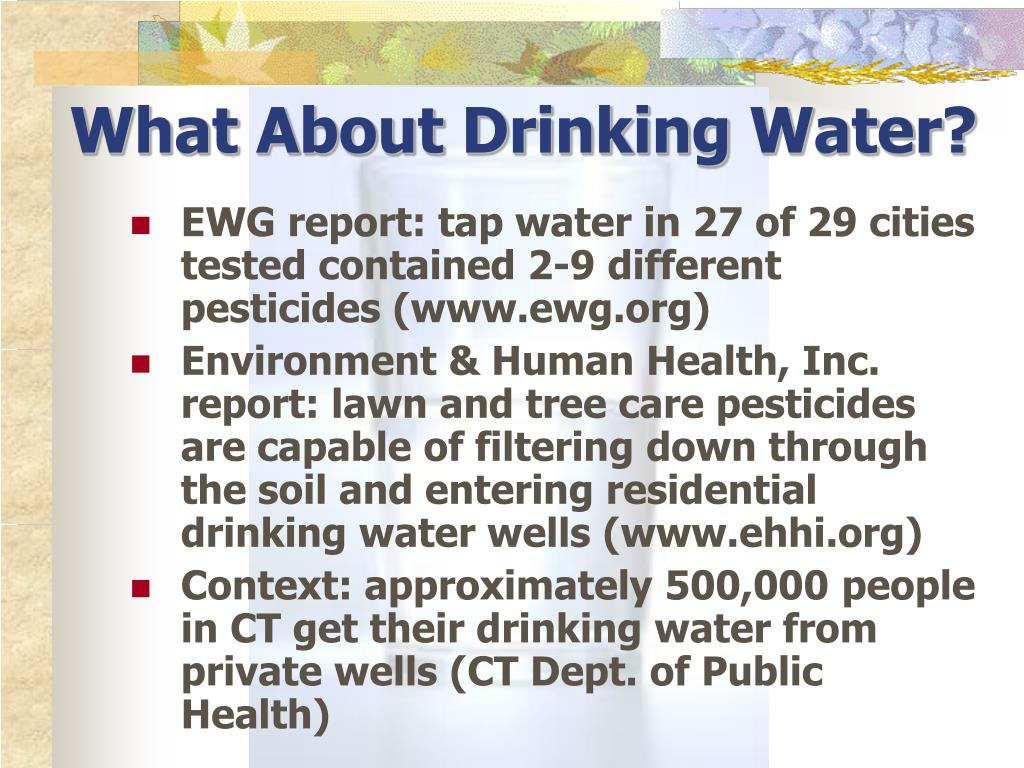 What About Drinking Water?