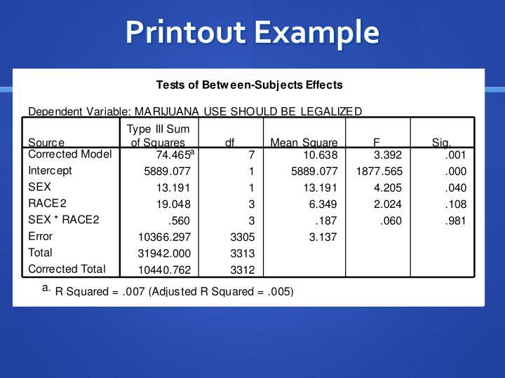 Printout Example