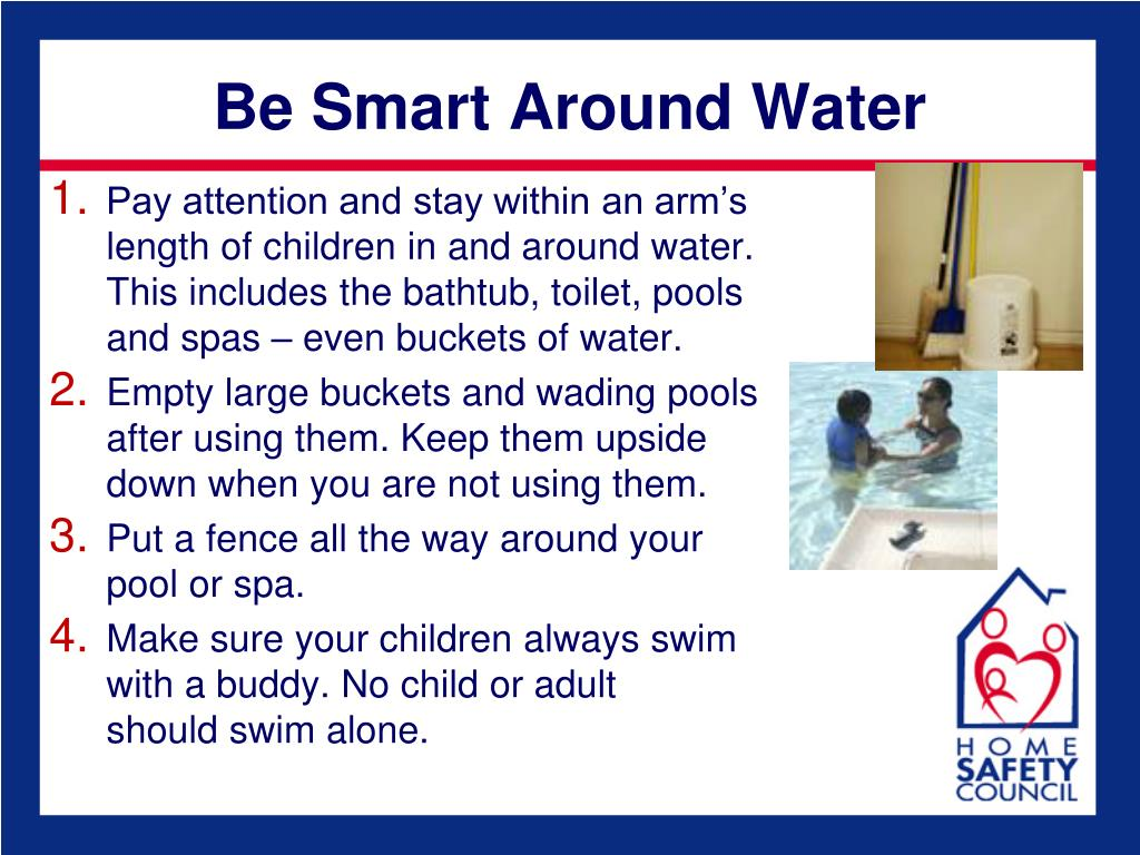 Be Smart Around Water