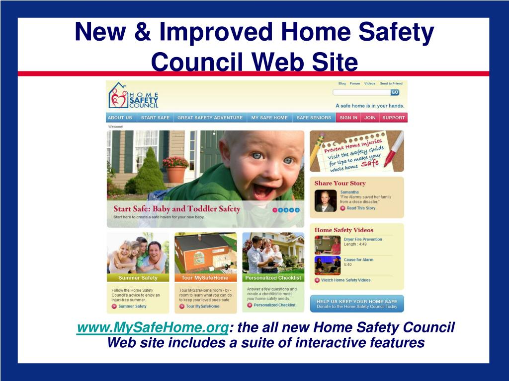 New & Improved Home Safety Council Web Site