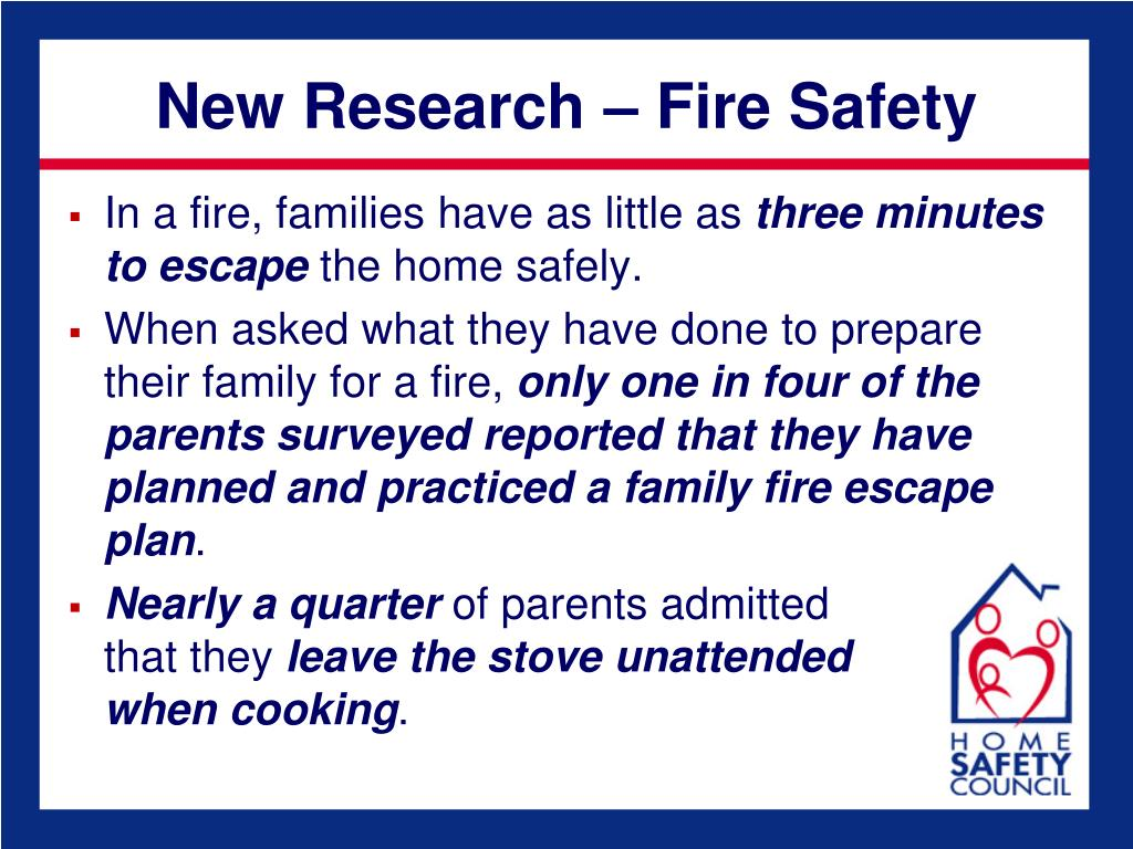 New Research – Fire Safety