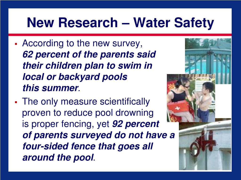 New Research – Water Safety