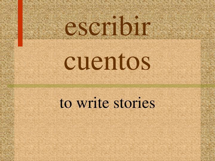 escribir cuentos