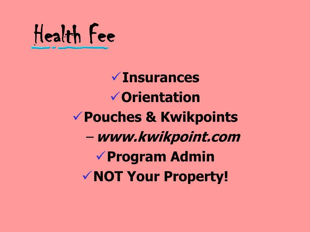 Health Fee