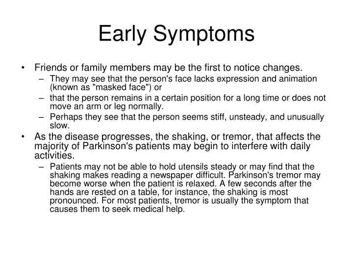 Early Symptoms