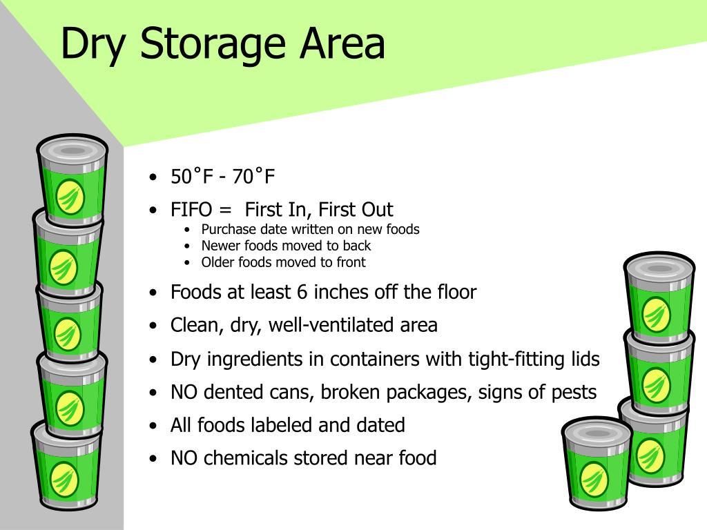 Dry Storage Area