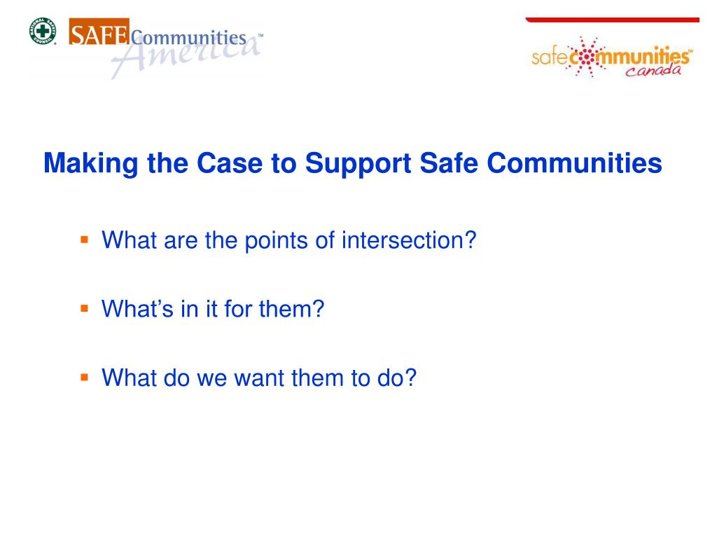 Making the Case to Support Safe Communities