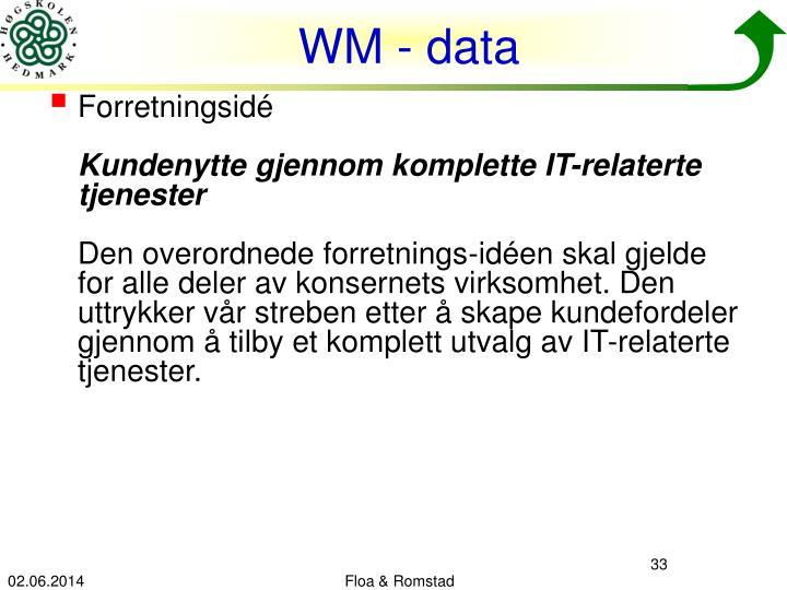 WM - data