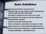 duke saferides