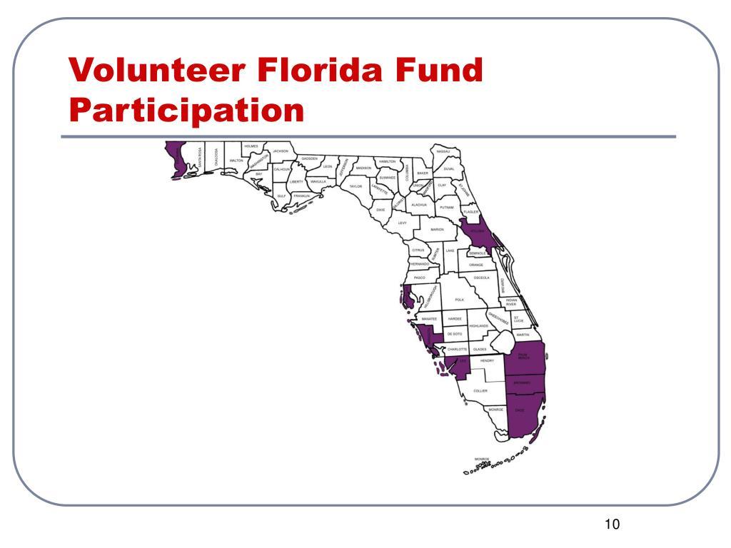 Volunteer Florida Fund Participation
