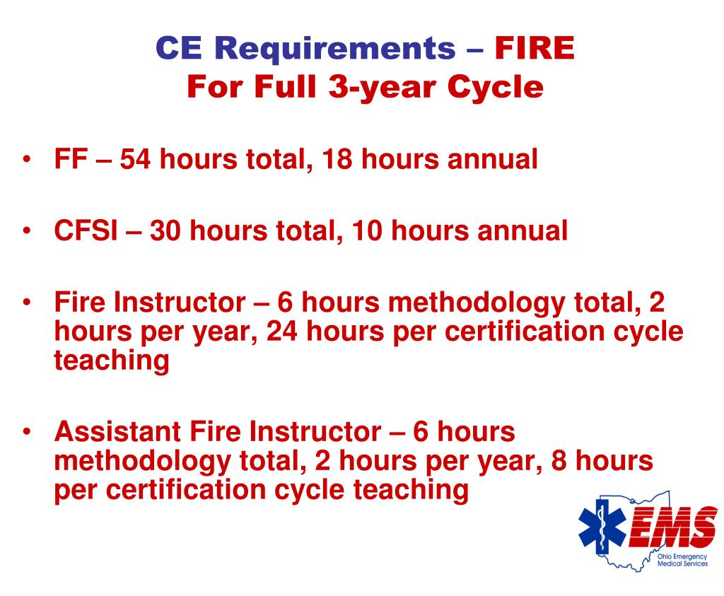 CE Requirements –
