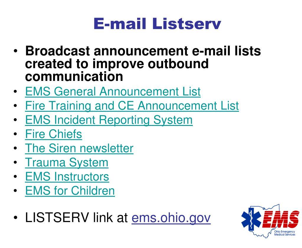 E-mail Listserv