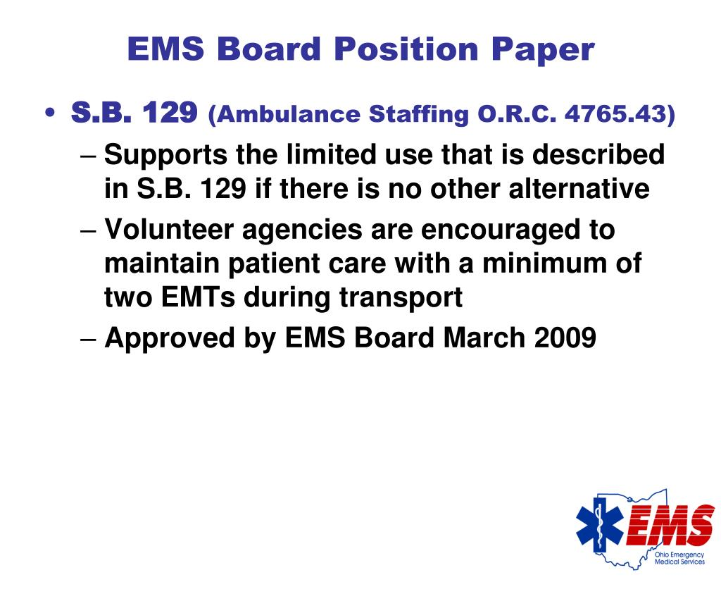 EMS Board Position Paper
