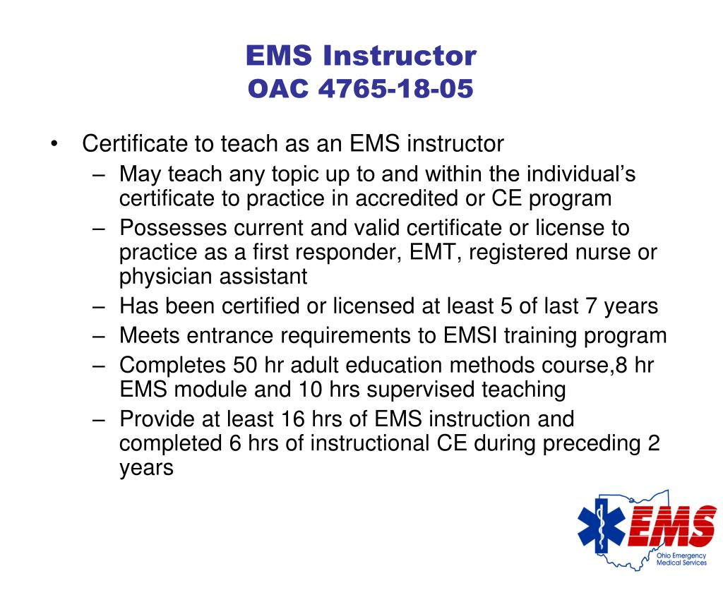 EMS Instructor