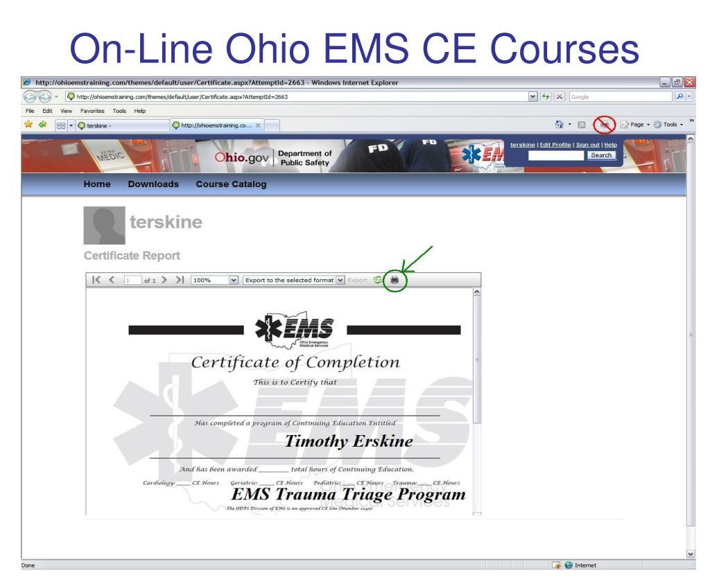 On-Line Ohio EMS CE Courses