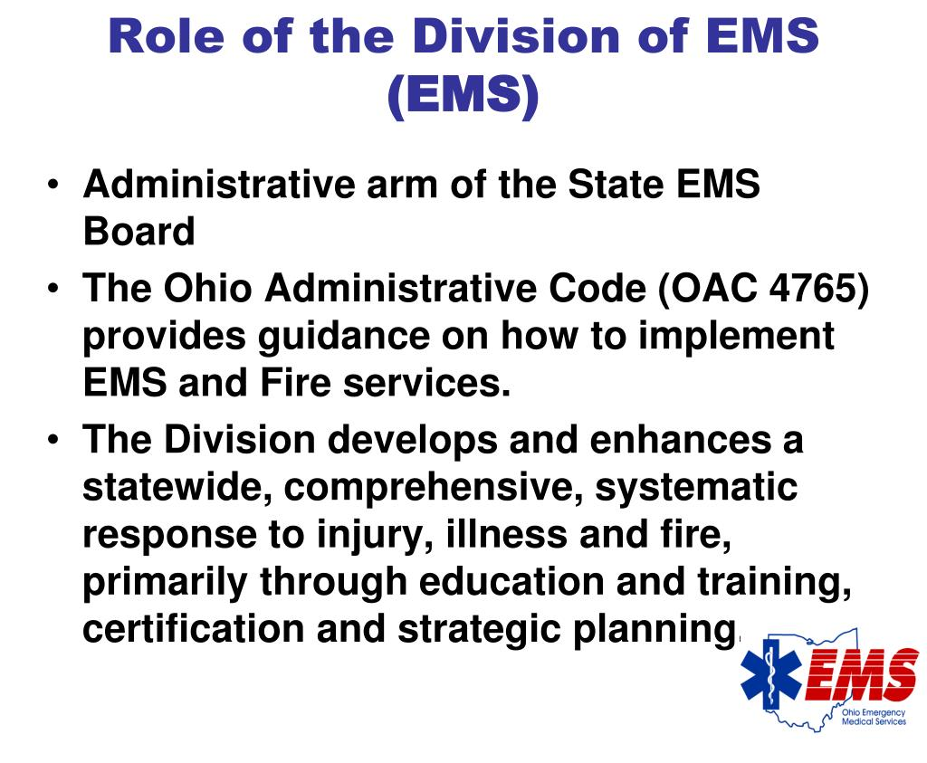 Role of the Division of EMS