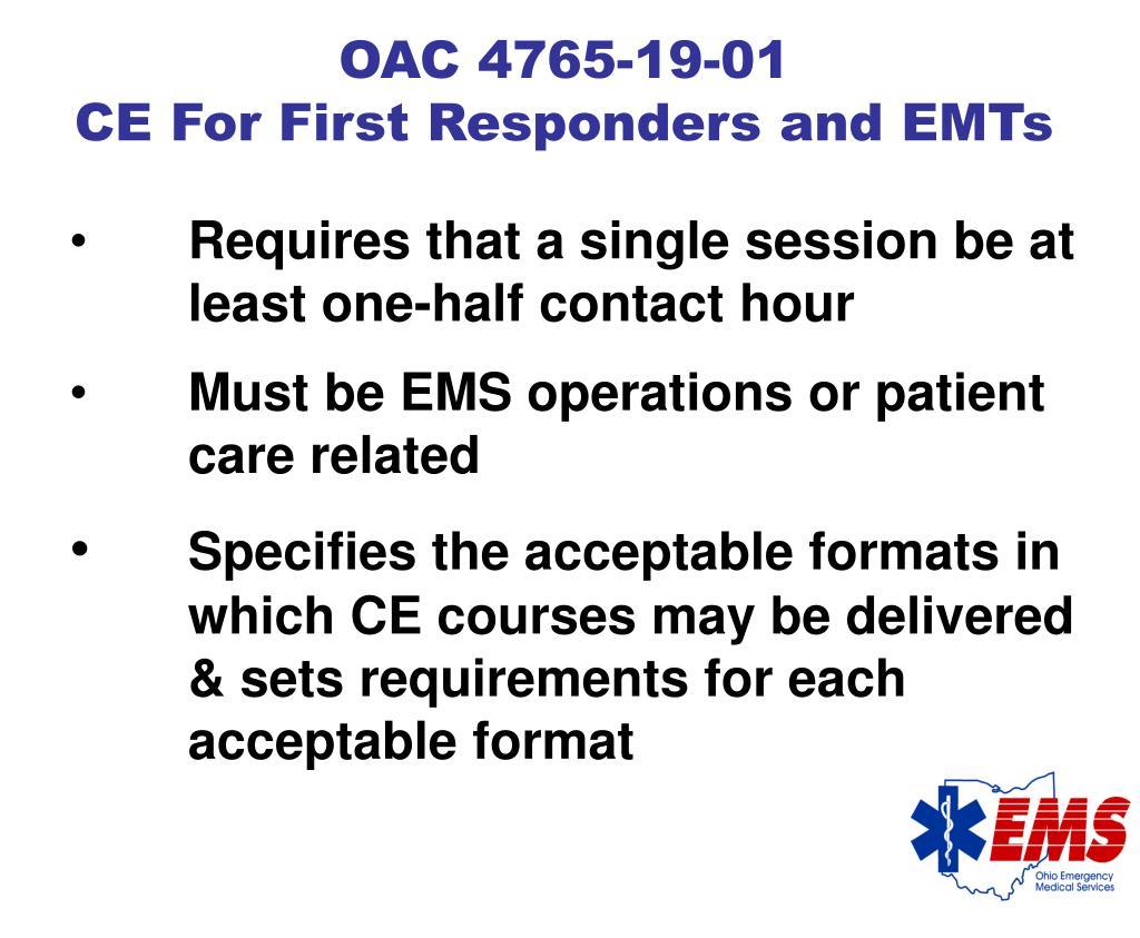 OAC 4765-19-01