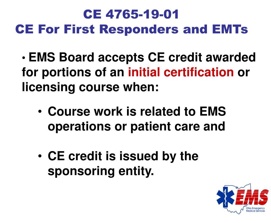CE 4765-19-01