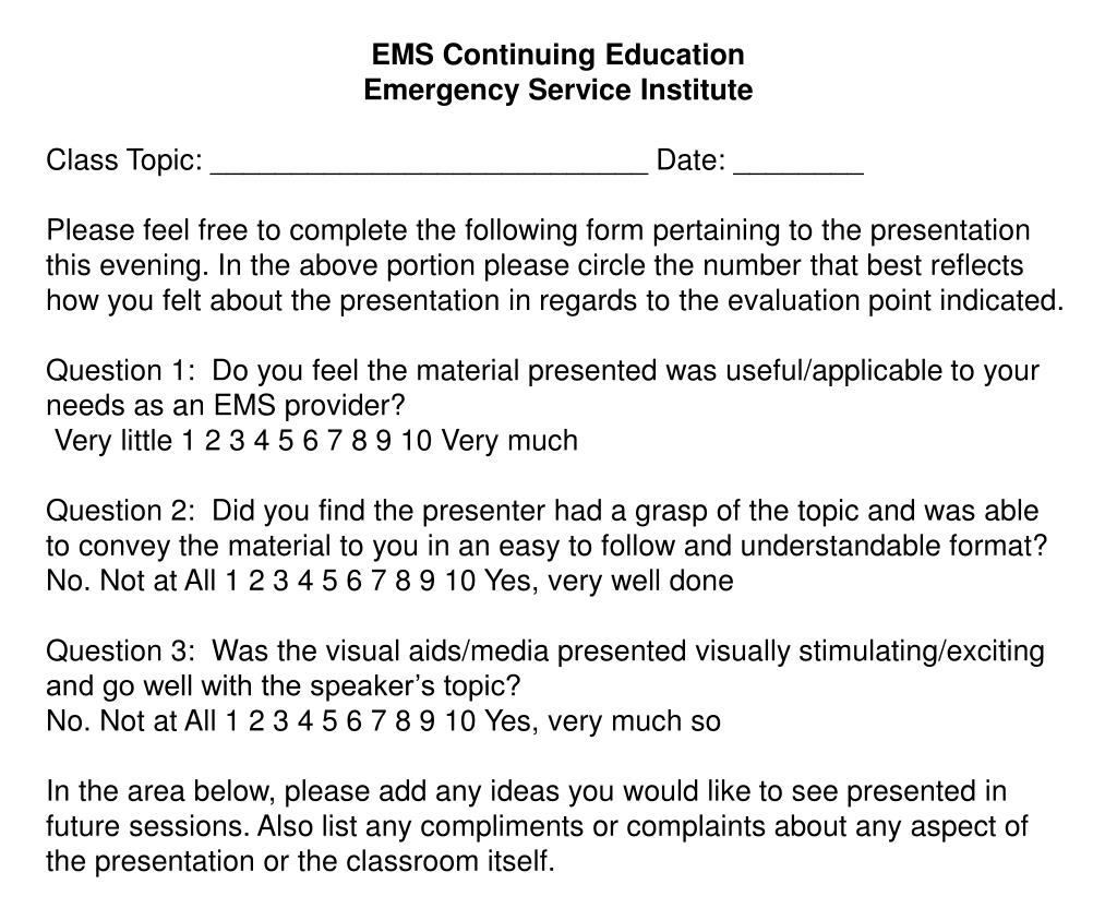 EMS Continuing Education