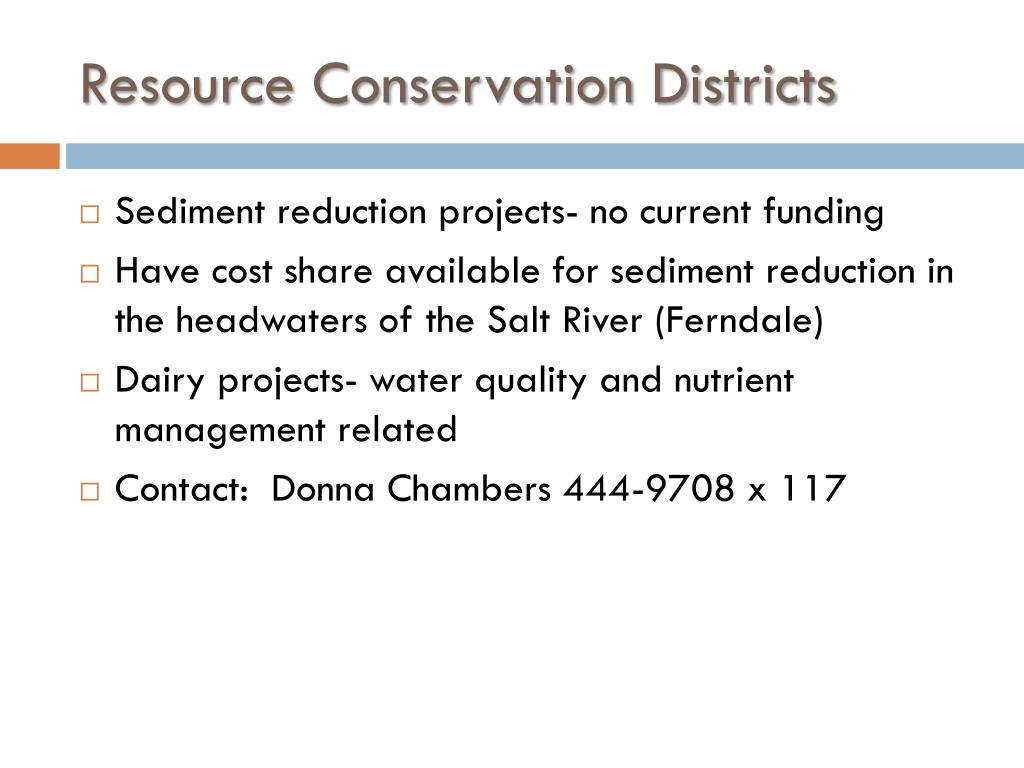 Resource Conservation Districts