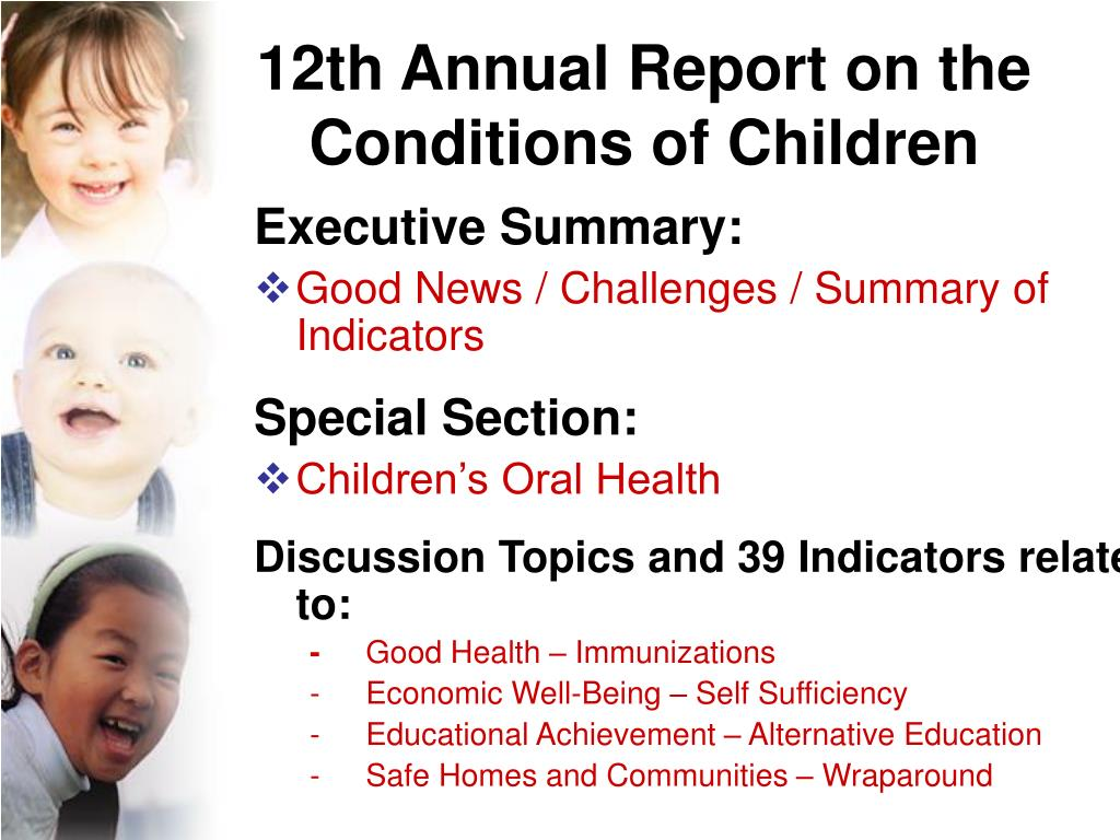 12th Annual Report on the Conditions of Children