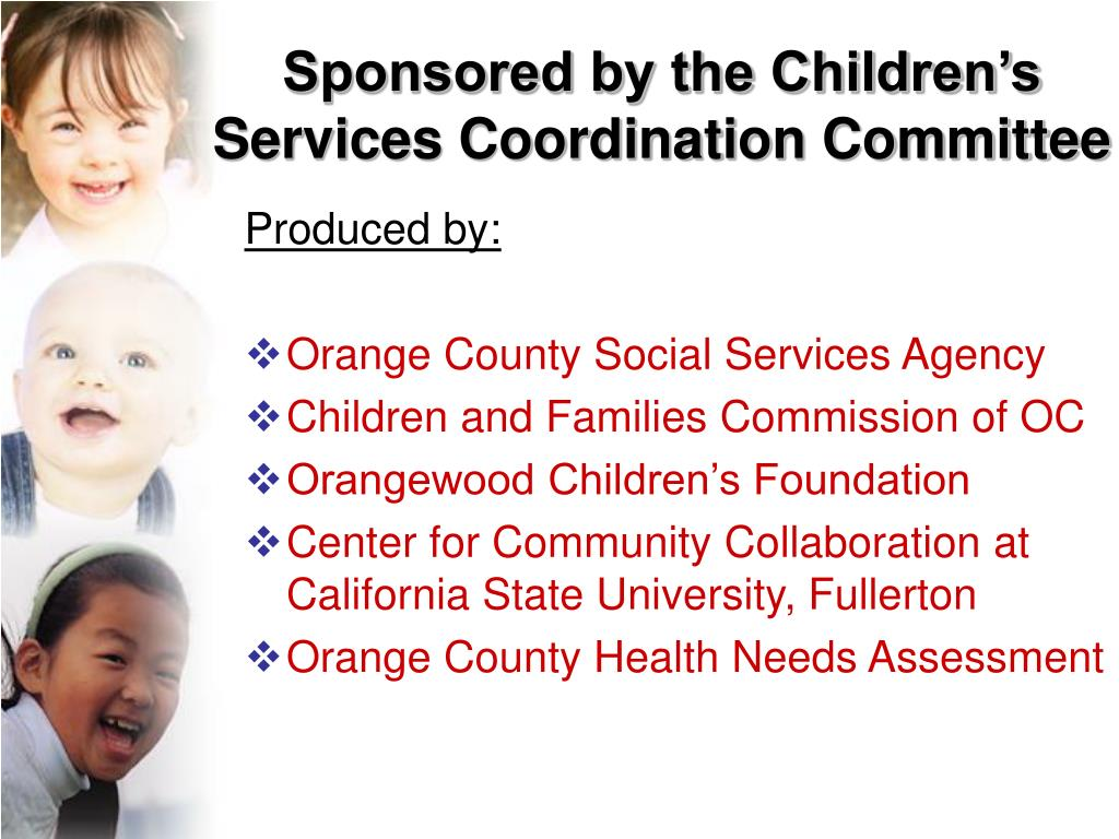 Sponsored by the Children's Services Coordination Committee
