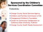 sponsored by the children s services coordination committee