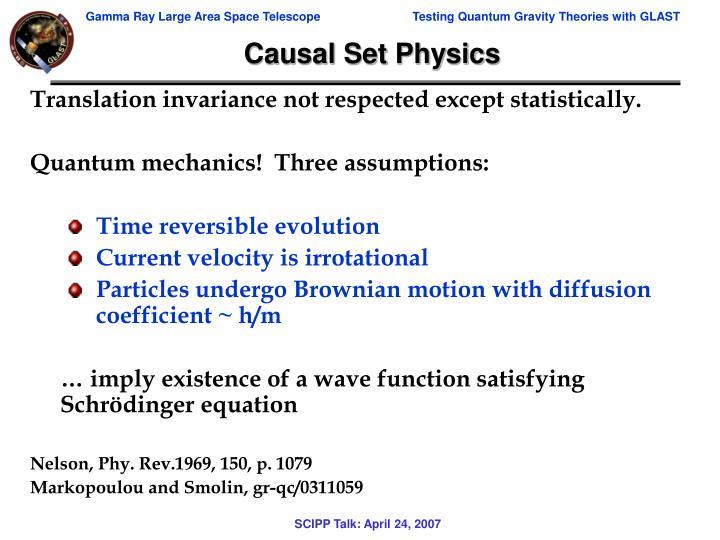 Causal Set Physics