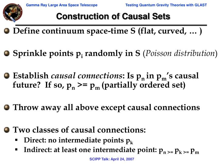 Construction of Causal Sets