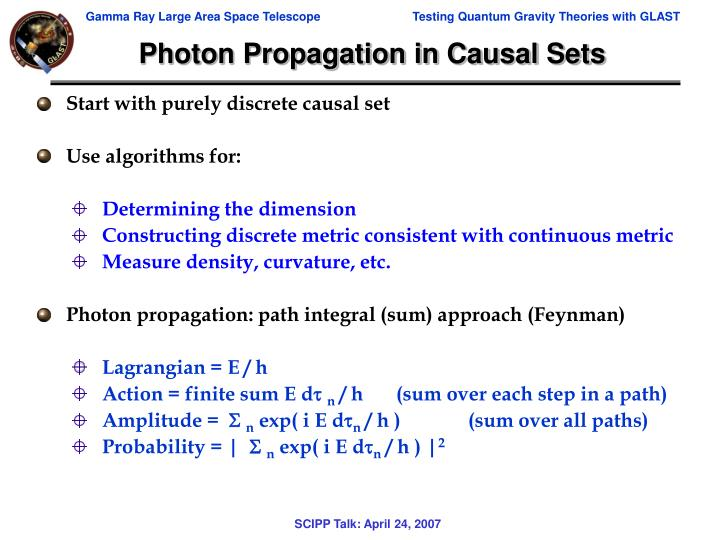 Photon Propagation in Causal Sets
