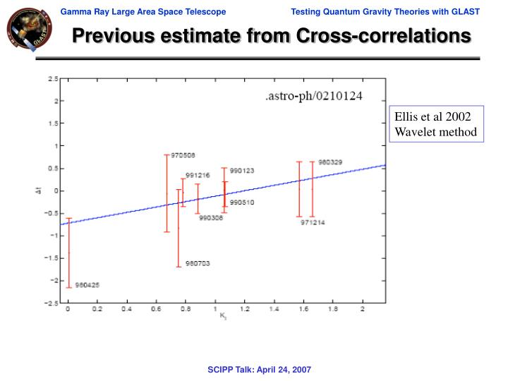 Previous estimate from Cross-correlations