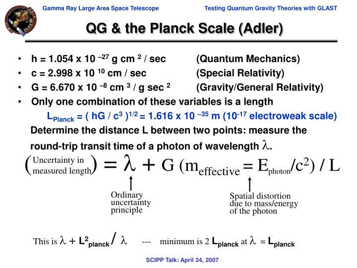 QG & the Planck Scale (Adler)