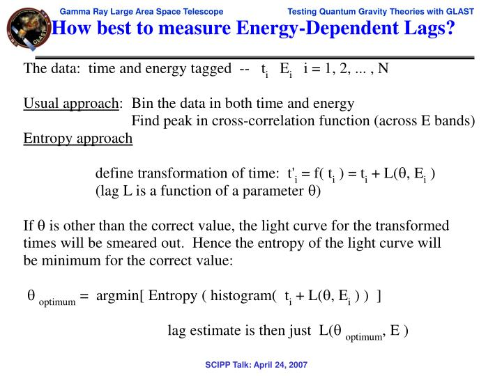 How best to measure Energy-Dependent Lags?