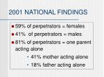 2001 national findings37