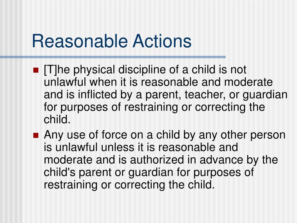 Reasonable Actions