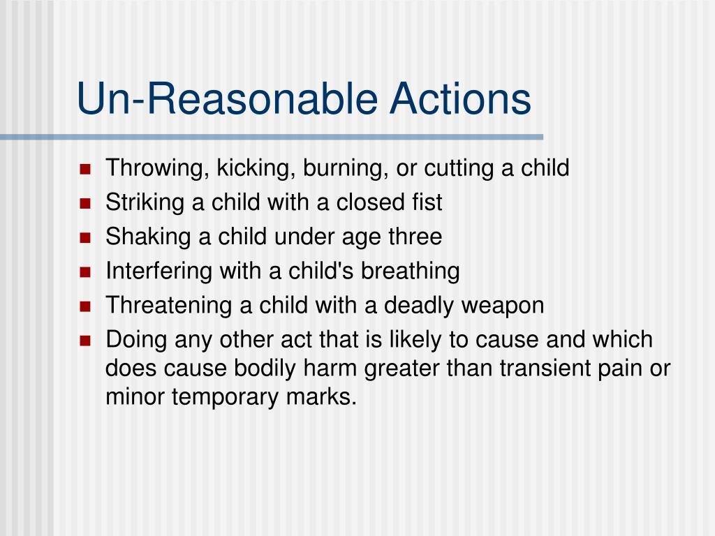 Un-Reasonable Actions