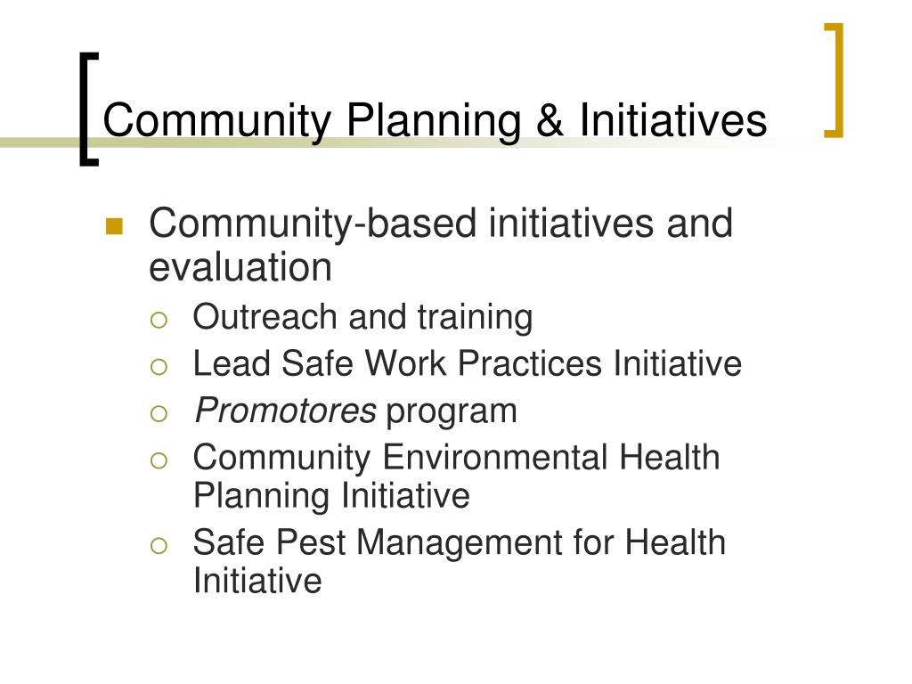 Community Planning & Initiatives