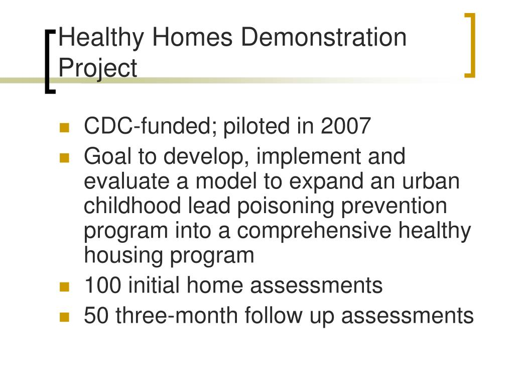 Healthy Homes Demonstration Project
